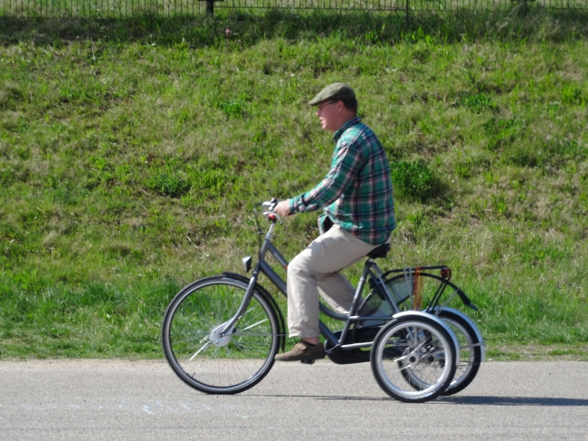 stormloop op proefdag driewielers